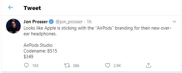 Is Apple preparing its first truly professional studio headphone? New to be called AirPods Studio