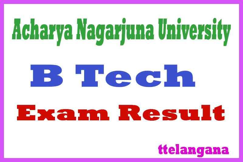 Acharya Nagarjuna University B Tech Exam Results