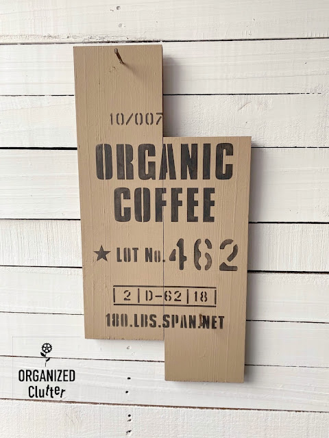 Photo of a two board organic coffee sign