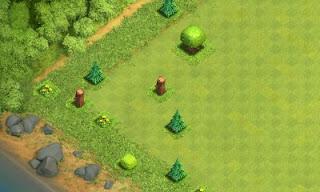 Rahasia Mendapatkan Builder Hut ke-5 di TH 7!!, Bersihkan Obstackes (Tumbuhan, Pohon, Batu, dan Gems Box)