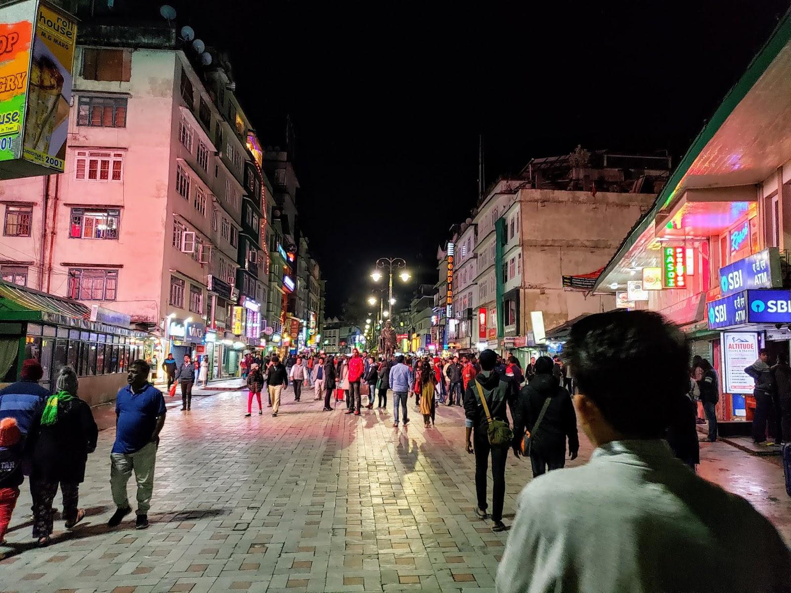 एम. जी. मार्ग मार्किट, गंगटोक