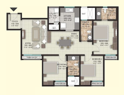 Dosti Centrum Hadapsar Floor Plan