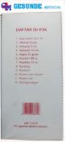 Daftar Isi Kotak P3K Mobil