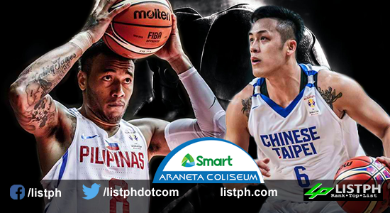 List of Gilas 12 vs Chinese Taipei FIBA World Cup 2019 Qualifiers Asia