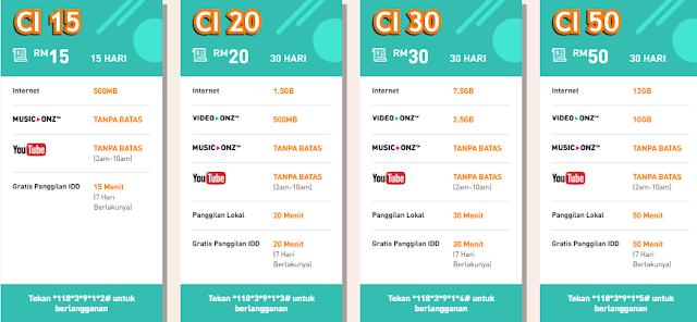 Paket nelpon dan internet U Mobile bagi masyarakat Indonesia