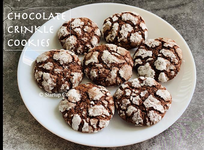 Chocolate Crinkle Cookies Recipe   Chocolate Cookies   Startup Cooking