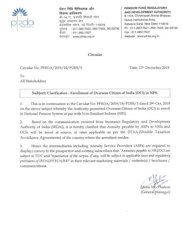enrollment-of-overseas-citizen-in-nps-pfrda-clarification-paramnews