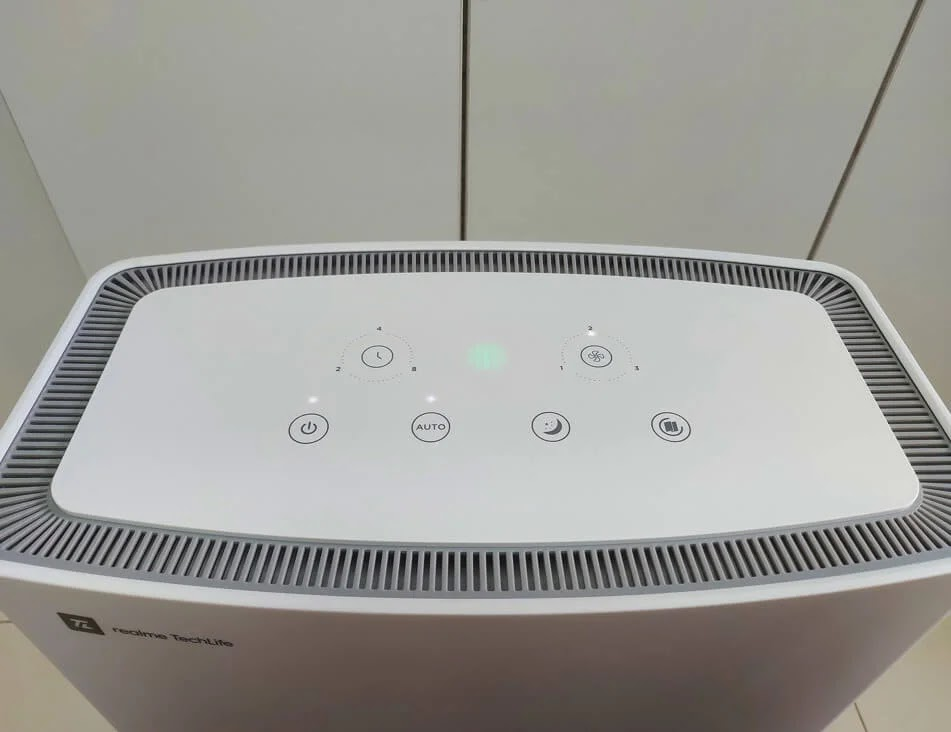 realme TechLife Air Purifier Buttons and Indicators