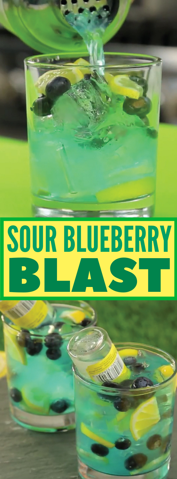 This Sour Blueberry Blast Packs A Real Pucker Punch #drinks #cocktails