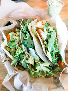 Zao Asian Cafe is a Utah restaurant with vegan options. Featured here are vegan tacos.