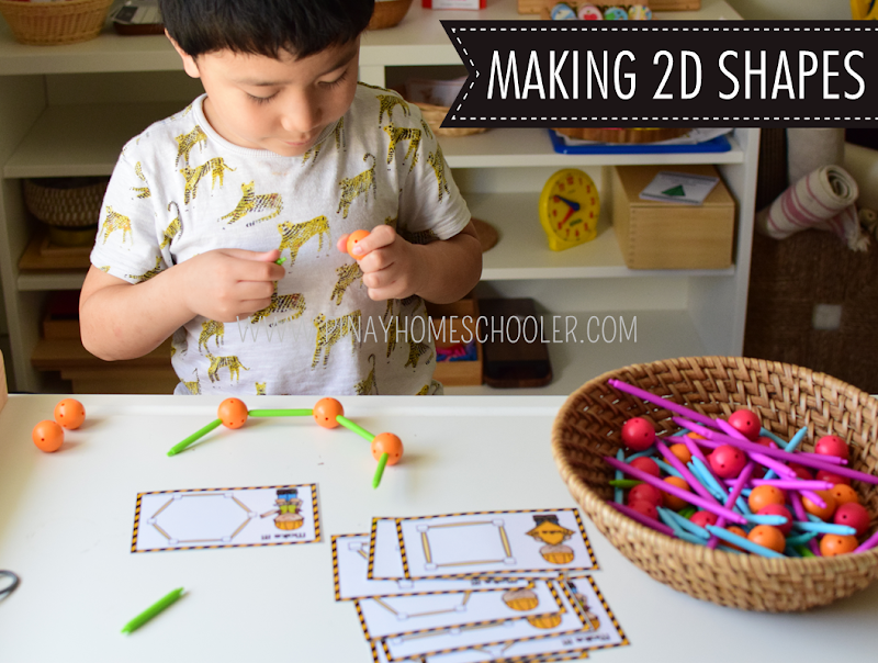 Kindergarten Math Shapes - Making 2D Shapes