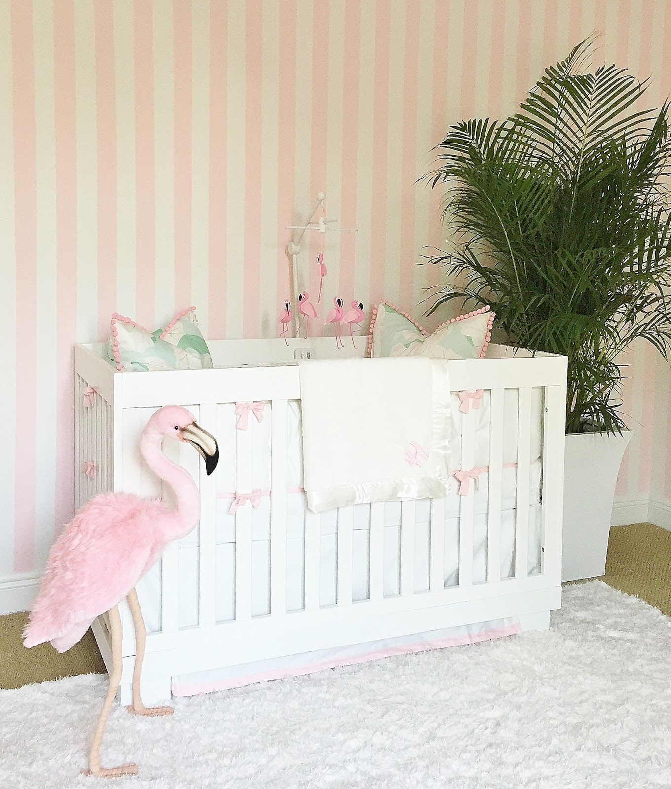 A Glamorous Pink and Green Nursery Inspired by the Beverly Hills ...
