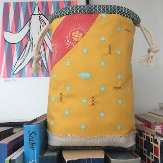 bonnie curves drawstring bag tula pink