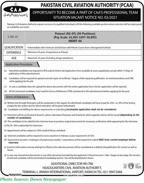 CAA Jobs 2021 - Latest Jobs in Civil Aviation Authority March 2021 Apply Online