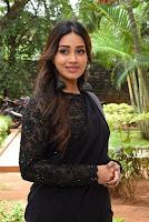 Actress Nivetha Pethuraj in Black Saree Stills at Paagal Movie Trailer Launch. HeyAndhra.com