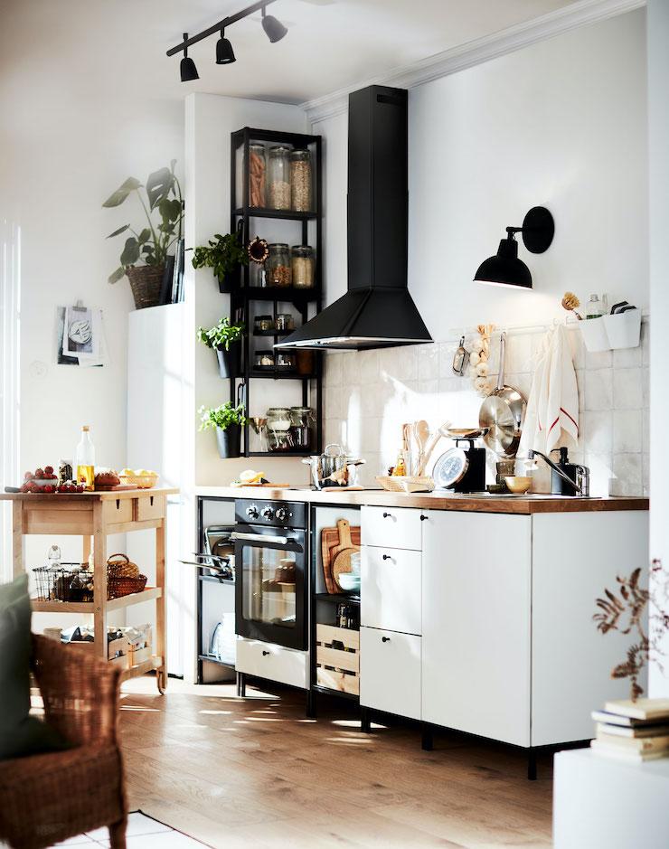 Cocina de IKEA de aspecto industrial.