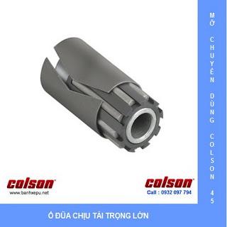 Bánh xe Phenolic chịu nhiệt càng cố định 150mm Colson Mỹ | 4-6108-339 sử dụng ổ đũa