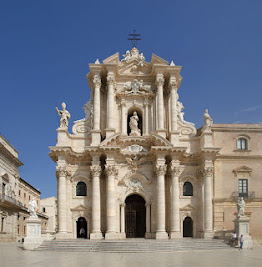 The Sicilian Baroque cathedral in  Syracuse, rebuilt by Andrea Palma