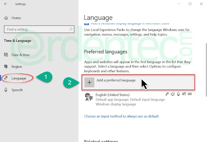 Windows 10 Add Another Language