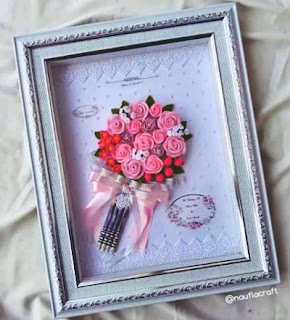 mahar pernikahan frame bouquet