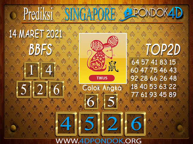 Prediksi Togel SINGAPORE PONDOK4D 14 APRIL 2021