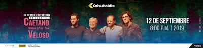Concierto de Caetano Veloso en Bogotá 2019