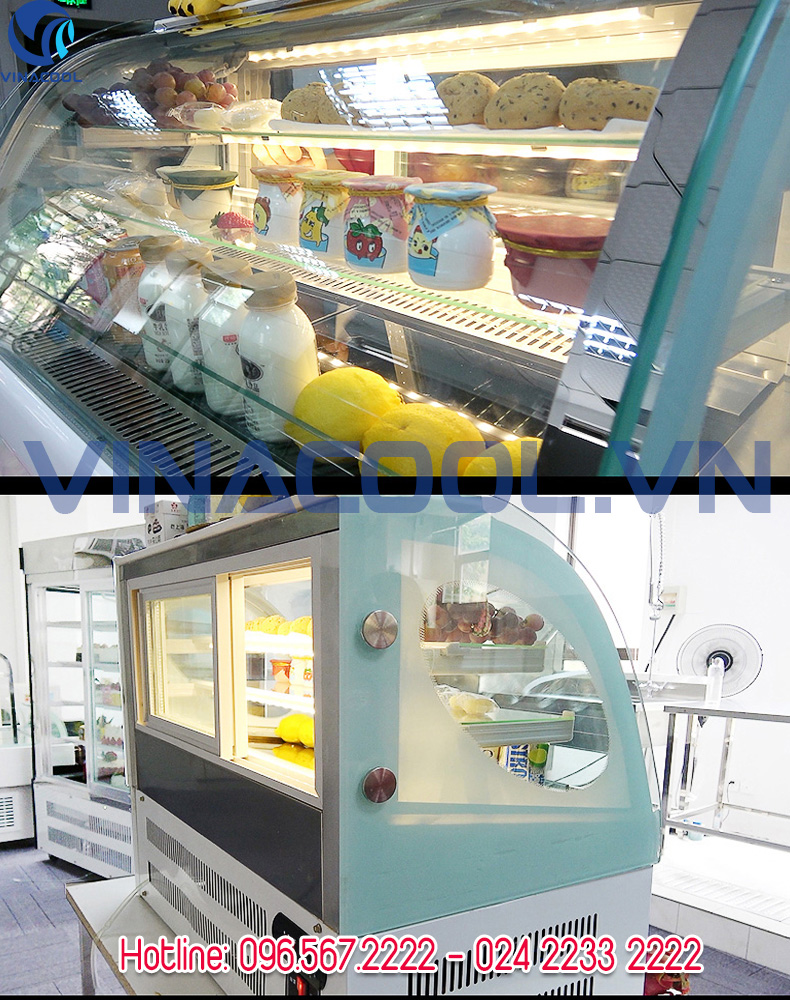 Những mẫu tủ trưng bày bánh kem Hà Nội giá rẻ Vinacool