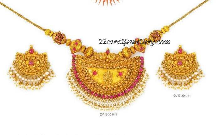 Temple Jewelry (below 40 grams) - Jewellery Designs