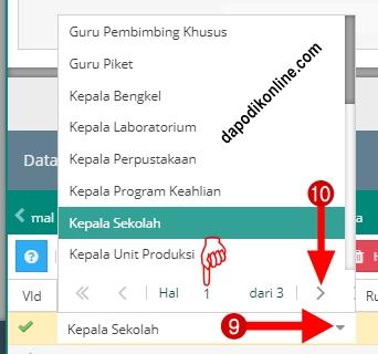 Pilih menu data rinci kemudian pilih tugas tambahan