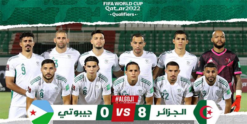 تصفيات كأس العالم قطر 2022 | الجزائر تنال الاشادة من العدو قبل الصديق+مباراة الجزائر جيبوتي+المدرب جمالي بلماضي+منتخب الجزائر لكرة القدم+التصفيات المؤهلة لمونديال قطر 2022+شكرا لكم على الاحترام+الجزائر 8  :  0 جيبوتي+Algérie 8-0 Djibouti