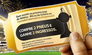 Cadastrar Promoção Bridgestone 2017 Par Ingressos Libertadores