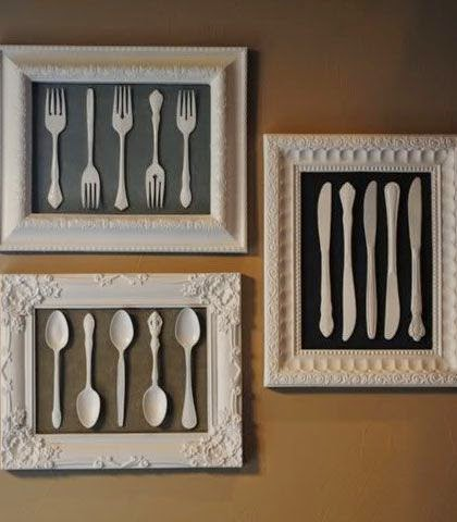 DIY quadro com talher