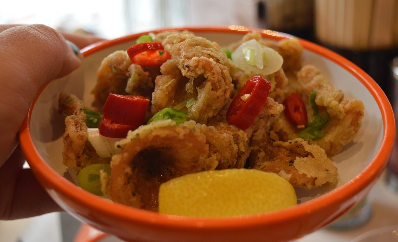 YO! Sushi Newcastle Grainger Street - Kids Menu Review - crispy squid