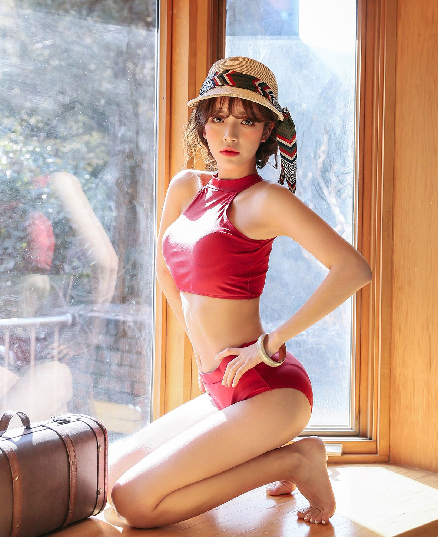 Cha Yoo Jin - Cherry shower bikini - Korean fashion - TruePic.net