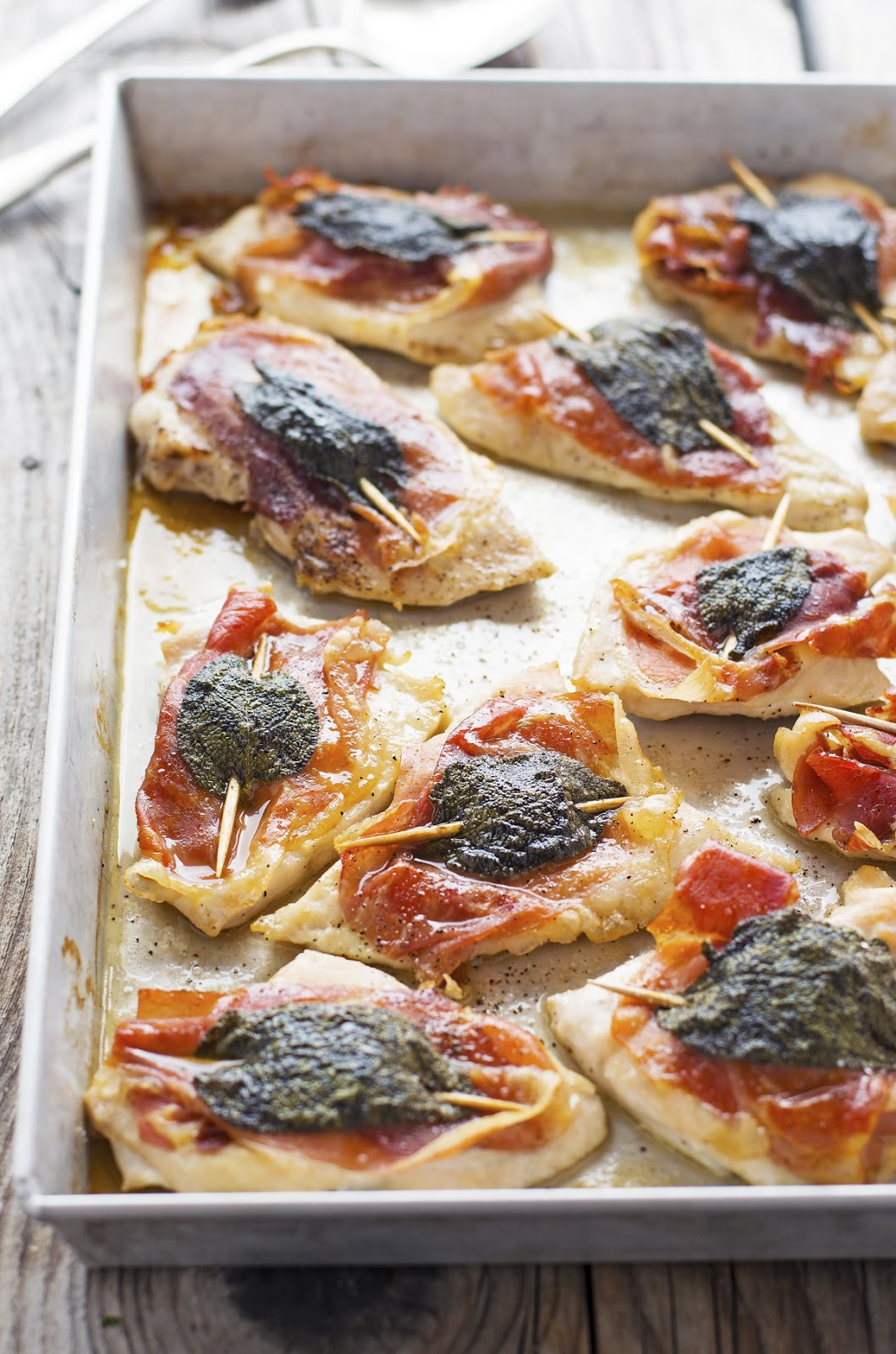 Pan Sheet Chicken Saltimbocca
