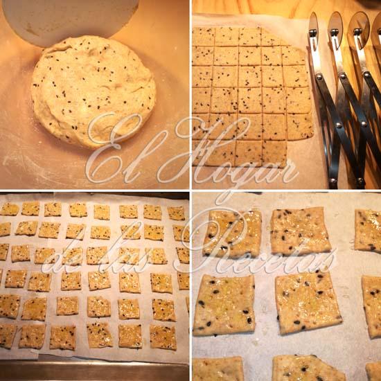 Crackers Integrales de Masa Madre: Formado