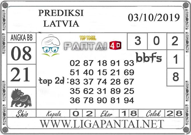"""PREDIKSI TOGEL """"LATVIA"""" PANTAI4D 03 OKTOBER 2019"""