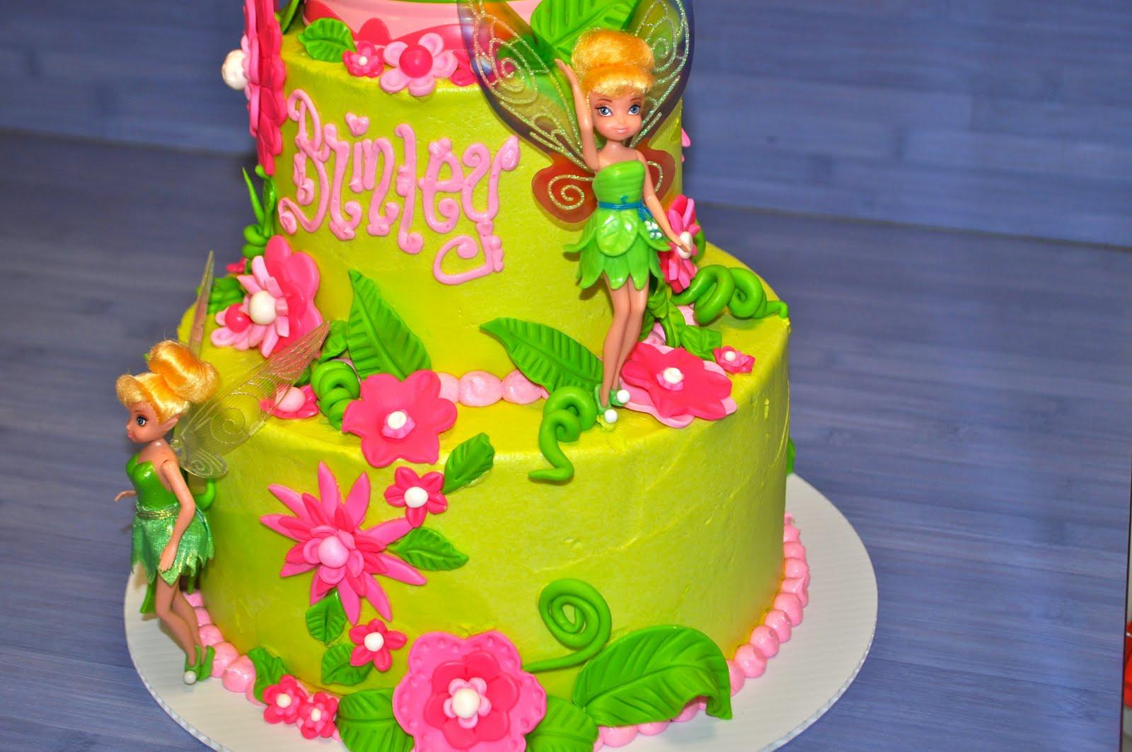 Tinkerbell Cake Designs Fondant