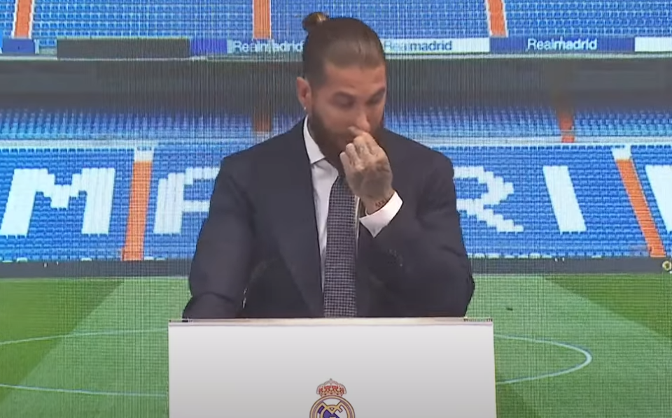 Sergio Ramos Tearful As He Bids Real Madrid Farewell During Press Conference