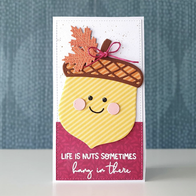 Sunny Studio Stamps: Nutty For You Customer Card by Ilona van den E