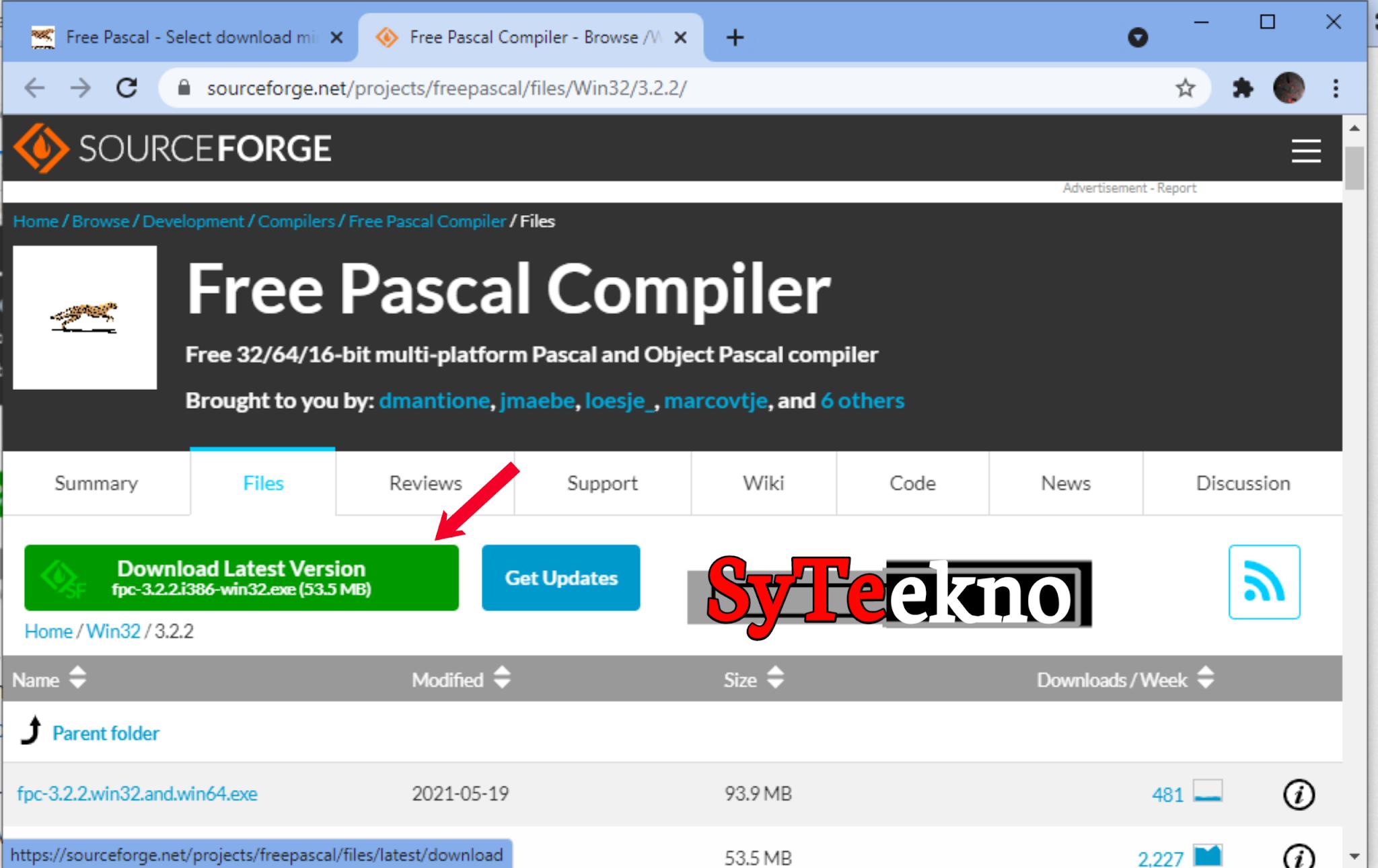 Mendownload Pascal melalui web bag 4 syteekno