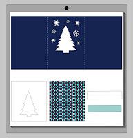 Schneidevorlage für weihnachtliche Fensterkarte