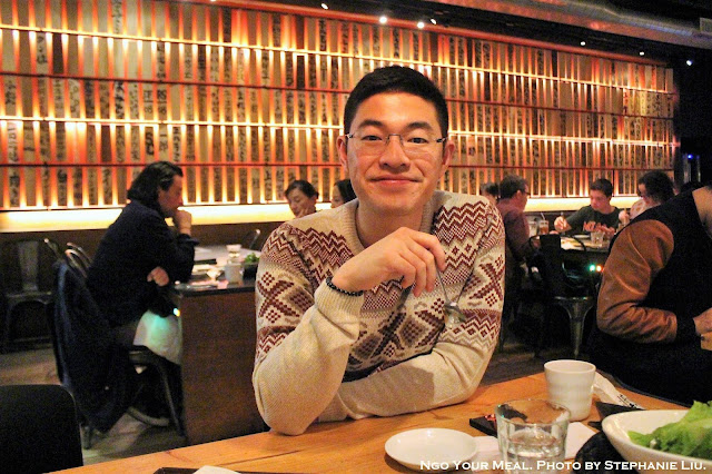 Jonathan Ngo at Yakiniku Futago in New York City