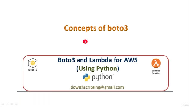 AWS Automation with boto3 of Python and Lambda Functions