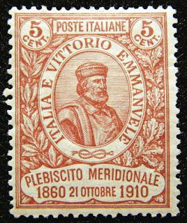 Italy Stamp 1910 5c Giuseppe Garibaldi Scott # 117