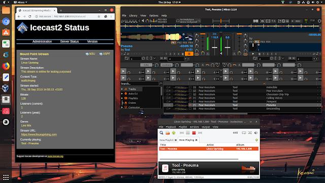 Mixxx Icecast2 on Ubuntu Linux