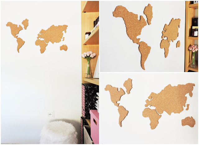 diy mapamundi corcho, diy mapa corcho, diy mapa del mundo, mapamundi diy, world map corkboard, mapamundi corcho barato, diy corcho pared
