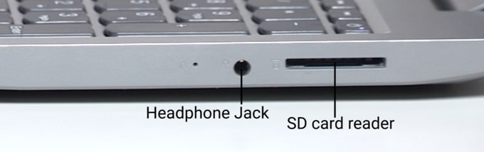 Ports on the right side of Lenovo IdeaPad S145 laptop.