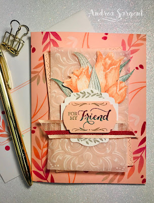 Andrea Sargent, Social Stamping, Stampin Up, Timeless Tulips, Calligraphy Essentials, Layered with Kindness, 2020, Friends, blog hop