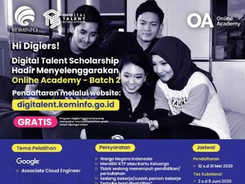beasiswa pelatihan digital google